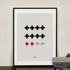 Contra Video Game Cheat Code. Retro 1980's Vintage Game Print, hipster print, geekery art, nursery room, kids art, Video games. on Etsy, $18.54