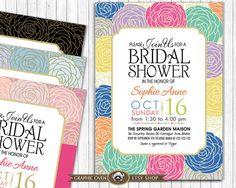 Bridal Shower Invite  Modern Floral Invitation Printable by ShopGO
