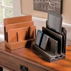 Faux Leather Multi-Charging Station