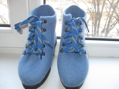 Demi-season shoes. Felted shoes. Shoes .Zhenskaya handmade shoes. by kerikfelt on Etsy