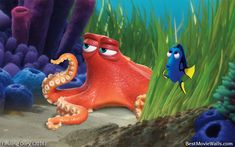 #Hank and #Dory playing hide and seek in this hd wallpaper :]