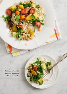 heirloom tomato & avocado chickpea salad / loveandlemons