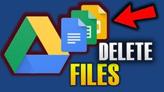 HOW TO DELETE FILES ON GOOGLE DRIVE Filing, Google Drive, Hacks, Technology, Videos, Tips, Youtube, Tech, Glitch