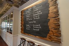 Chalkboard paint and reclaimed wood