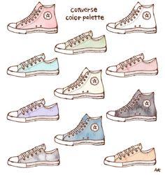converse color palette コンバース Dress Design Drawing, Dress Design Sketches, Fashion Design Drawings, Fashion Sketches, Art Drawings Sketches Simple, Pencil Art Drawings, Doodle Drawings, Easy Drawings, Dessin Old School