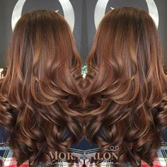 "Cinnamon and Caramel #Balayage by @talia_cipollone GORG!!! <span class=""emoji…"