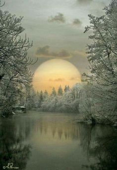 Ideas winter landscape photos earth for 2019 Beautiful Moon, Beautiful World, Beautiful Places, Beautiful Scenery, Winter Pictures, Nature Pictures, Foto Picture, Winter Scenery, Jolie Photo