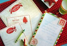 Letters to Santa stationery that has a magic ink that reveals hidden messages when you put it in the freezer