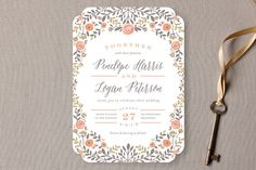 Lover's Floral Frame Wedding Invitations by Andrea Snaza at minted.com