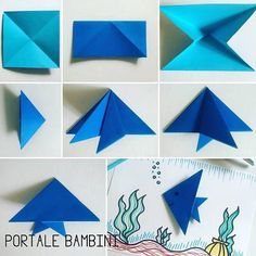 Head to the webpage to read more about Origami Models Origami Quilt, Instruções Origami, Origami Star Box, Kids Origami, Origami Dragon, Origami Folding, Origami Fish Easy, Origami Instructions, Origami Tutorial