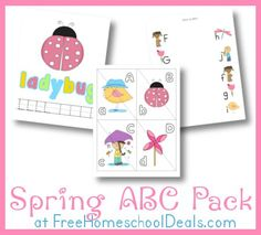 Free Spring ABC Printable Pack  by Erin from Royal Baloo for Free Homeschool Deals