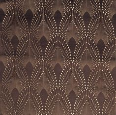 Rivoli in Chocolate by MOKUM Art deco wallpaper Motif Art Deco, Art Deco Pattern, Art Deco Design, Pattern Design, Textile Patterns, Print Patterns, Geometric Patterns, Art Nouveau, Art Deco Stil