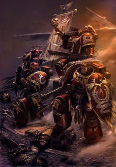 Blood Angels Command Squad by Adrian Smith