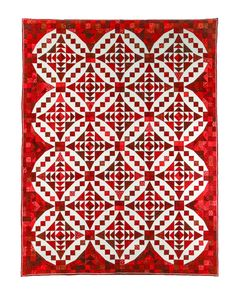 """Ruby Jewels"", pattern ""Faceted Jewels"" by Glad Creations. 2016 Opportunity Quilt, donated by Suzy Weinbach. Friendship Quilters Guild (San Diego, California)"