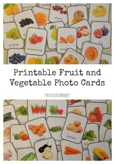 Create a print rich environment for your classroom or homeschool with these beautiful photo fruit and vegetable printable cards