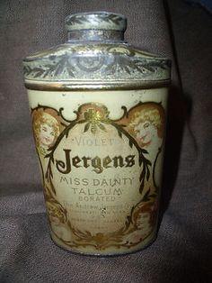 Jergens Miss Dainty talc tin