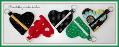 Ilahdutusta ja DIY:Sydänpussukka - Punatukka ja kaksi karhua Salopette Jeans, Denim Crafts, Back To School, Sewing Projects, Pouch, Butterfly, Minion, Embroidery, Christmas Ornaments