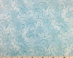 Bernartex SCROLL (Blue) 100% Cotton Fabric for Quilting - sold by 1/2 yard