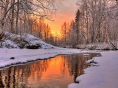 Warm sunset light reflected in open water on a cold day. Winter Landscape, Landscape Photos, Landscape Art, Landscape Paintings, Landscape Photography, Winter Photography, Nature Photography, Newborn Photography, Photo Voyage