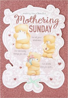 FOREVER FRIENDS WISHING YOU A BEAUTIFUL MOTHERING SUNDAY MOTHER'S DAY CARD NEW | Home, Furniture & DIY, Celebrations & Occasions, Cards & Stationery | eBay!
