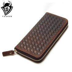 New Arrival Brand Weave Clutch Men Wallets Male Wallet Genuine Leather Long  Purses Card Holder Coin 1eb000d0f3a3