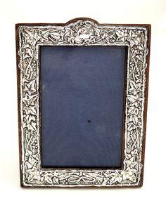 antique edwardian sterling silver ivy photo frame