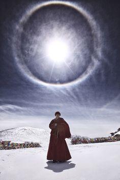 """fanaticismworld: """" Tibetan in the sun """" sun halo"""
