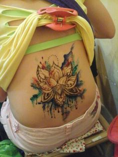 Lotus flower .... by me, black henna