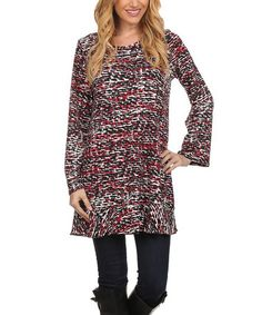 Loving this Red Abstract Tunic on #zulily! #zulilyfinds