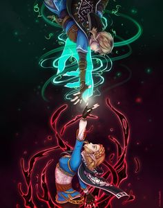 Breath Of The Wild, Dungeons And Dragons Characters, Anime Characters, Link And Midna, Image Zelda, Character Art, Character Design, Botw Zelda, Otaku