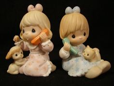 Precious Moments 2pc Set Girlfriends Sisters on Phone | eBay