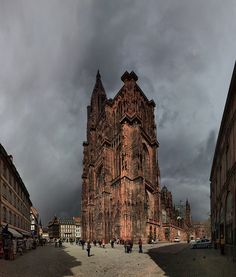 Cathédrale Notre-Dame, Strasbourg, France. NO HDR! by Batistini Gaston, via Flickr