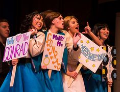 """Liberty University's Department of Theatre Arts kicks off its spring theatre season tonight, Friday, Feb. in Tower Theater with the upbeat, vibrant Broadway classic, """"Bye Bye Birdie. Theatre Props, Musical Theatre, Susan Egan, Ann Margret Photos, Ryan Mccartan, Bye Bye Birdie, Costume Ideas, Costumes, Liberty University"""