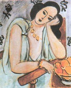 Matisse, La Robe verte et les oranges (Monique Bourgeois qui deviendra Soeur Jacques-Marie)