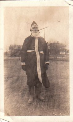Old Vintage Photograph  Creepy Santa by niminsshop on Etsy, $12.00
