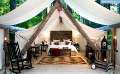 "Luxury Canvas ""Cabins"" in Olympia, Washington 