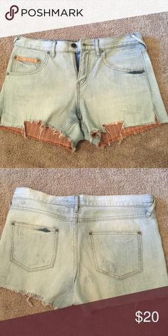 Free people cut off denim shorts - Size 28 Edge cut off shorts, high waisted Free People Shorts Jean Shorts