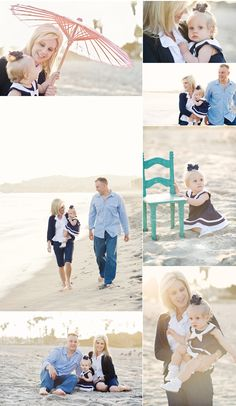 beach family photo session
