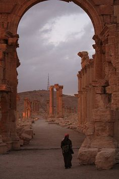 The Monumental Arch and the Great Colonnade, Palmyra / Syria (by Fouad GM).
