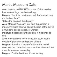 [Open for more] • • • Museum date • • @matthewdaddario @harryshumjr [Image from Tumblr] • • ily: i love you. ilysm: i love you so much . ikyfwifa: i know you feel what i feel alec . wtgcdpma: when things get crazy don't push me away . iamt: i am malec trash