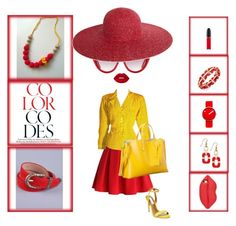 """""""red & yellow summer"""" by lidia-malawska ❤ liked on Polyvore featuring Chicwish, Yves Saint Laurent, Steve Madden, Charter Club, Lime Crime, Moschino, Adrienne Vittadini, Lulu Guinness, MAC Cosmetics and Rosendahl"""
