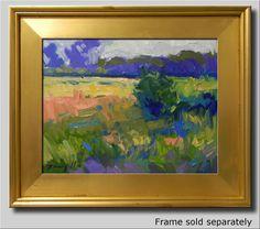 JOSE TRUJILLO PLEIN AIR CALIFORNIA IMPRESSIONIST OIL PAINTING MEADOW FIELD SKY #Impressionism