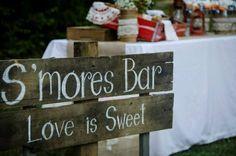 Wedding s'mores bar!