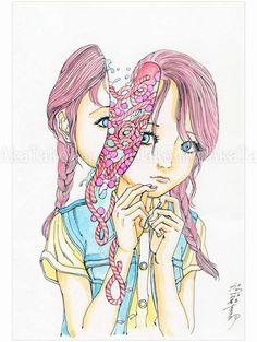 Shintaro Kago Funny Girl 92 original painting