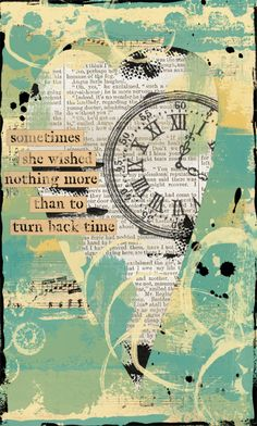 time art journal page  by strawberryredhead http://www.flickr.com/#/photos/strawberryredhead/