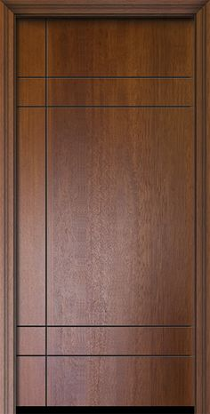 Contemporary Modern Exterior door by GlassCraft in Single Door in Fiberglass and the texture is Mahogany Flush Door Design, Home Door Design, Bedroom Door Design, Door Design Interior, Main Entrance Door Design, Wooden Front Door Design, Modern Wooden Doors, Contemporary Doors, Modern Door