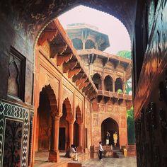 Inside the Taj Mahal, Agra.