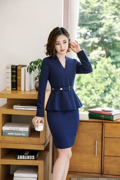 9022faefafa0 US $27.85 25% OFF|Brand Two Piece Set Pink Office Uniform Designs Women  Elegant Fashion Skirt Formal Suits Ladies Business Outfits Suit-in Skirt  Suits from ...