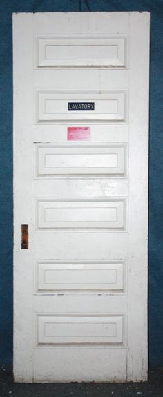 Antique six-panel door from Olde Good Things 5 Panel Doors, Architectural Antiques, Stores, Architecture Details, Perfect Place, Cool Designs, Garage Doors, Interior, Outdoor Decor