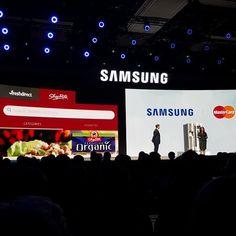 Alianza con Mastercard permite pagar con tarjetas débito y crédito el súper desde la refri  @samsungpty #CES2016